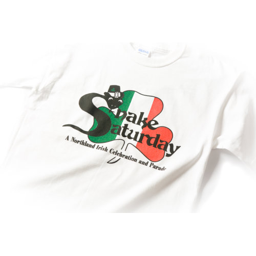 Snake Saturday 100 - White Tshirt zoom