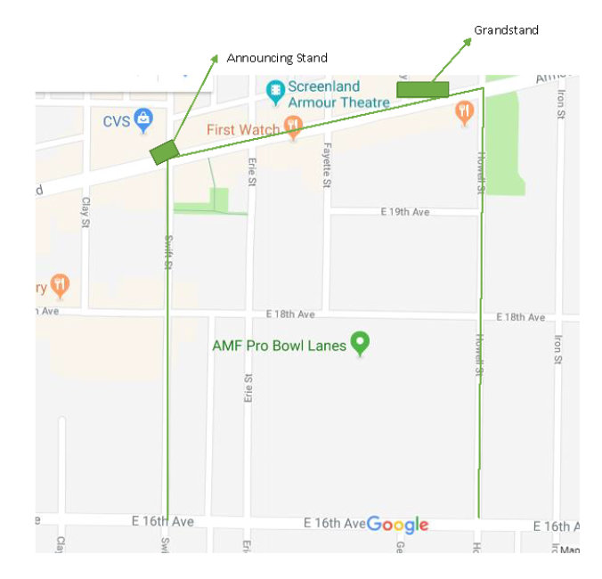 updated parade route map